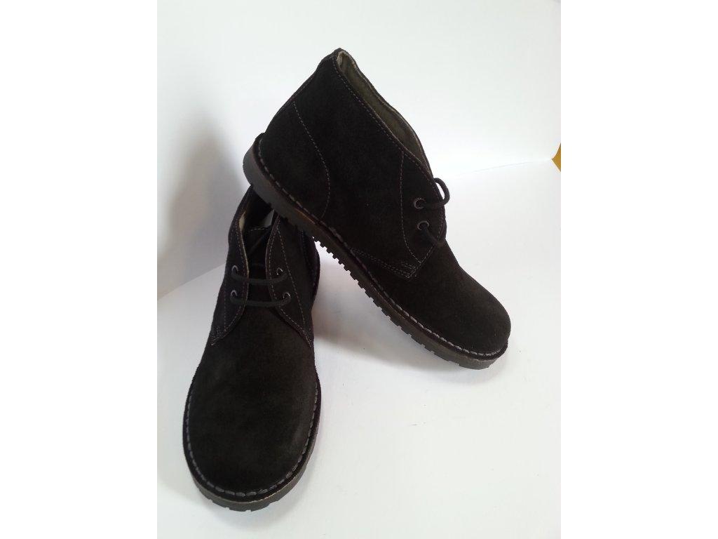 ed671846b38 Vycházková obuv  Sabatka černá - velurová